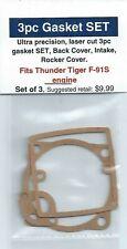 Thunder Tiger F-91S 3pc 4 Stroke Gasket SET, Backplate, Intake, Rocker Cover-NIP