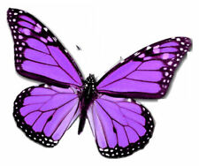24 X PURPLE VEINED BUTTERFLY EDIBLE CUPCAKE TOPPERS CAKE RICE PAPER B100