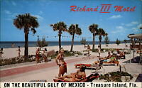 Treasure Island Florida Richard III Motel Gulf Mexico ~ 1950s-60s ~ shuffleboard