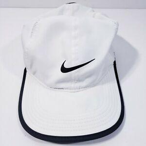 NIKE White Featherlight Hat Cap Dri-Fit Adjustable One Size