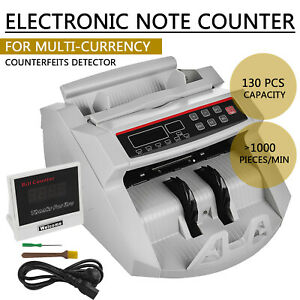 Automatic Bank Note Bill Counter Currency Money Pound Euro Cash Machine Count