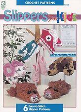 Slippers for Kids, House of White Birches Crochet Pattern Booklt 101028 RARE NEW