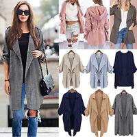Women Jacket Coat Open Front Cardigan Parka Winter Long Sleeve Warm Outwear