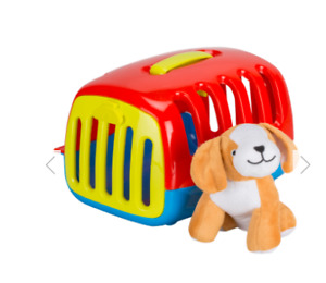 CHILDRENS TOY SMART PET CARE CARRY CASE WITH ACCESSORIES AND STUFFED ANIMAL