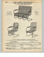1937 PAPER AD LLoyd Steel Porch Lawn Patio Furniture Chair Settee