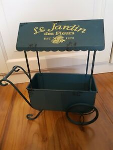 Flower Planter Tin Hand Cart