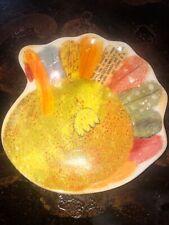 Hallmark Turkey/Thanksgiving Appetizer Serving Ceramic Plate