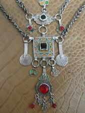 Amulett Halsband Silber Antik Berber Silver Tradition Tuareg Emaille um 1910