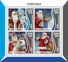 Sierra Leone - 2017 Christmas Santa - 4 Stamp Sheet - SRL17810a