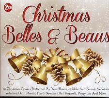 CHRISTMAS BELLES & BEAUS - 2 CD BOX SET - DEAN MARTIN, PEGGY LEE & MANY MORE
