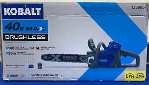 "Kobalt 1359954 40V Max 14"" Li-ion Cordless Chainsaw Kit NEW (IF)"