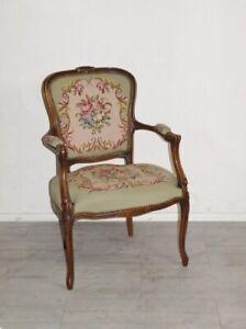 Zauberhafter Chippendale Armlehnstuhl Damensessel Kaminsessel Barock Stil