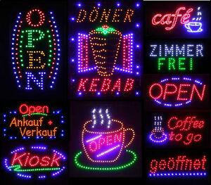 LED Schild Leuchtreklame Werbung Stopper Leuchtschild Sign Display