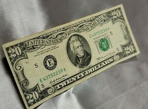 1969 E $20 Twenty Dollar Bill Circulated - Good Condition - NO RESERVE!! 👀