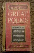 1958 A Concise Treasury of Great Poems (English & American) by Louis Untermeter