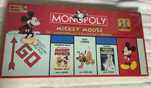 Disney Monopoly Game Mickey Mouse 75th Anniversary Collector's Edition Sealed