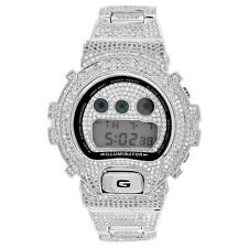 Digital Diverso DW6900 Custom G-Shock White Gold Tone  Band Bezel Watch