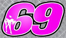 SUPERBIKE NUMERO 69 AUTOCOLLANT STICKER MOTO GP SEXY GIRL AUTO NU006