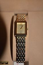 Jules Jurgensen Ladies Gold Tone Diamond Quartz Watch 379-7127 - MIB