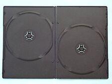 Custodia per DVD 7mm DOUBLE NERO CONFEZIONE DA 100
