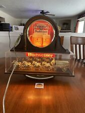 Vintage Budweiser Beer Clydesdale Team Lighted Bar Sign Double Sided Works