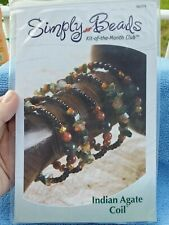 Simply Beads Kit-of-the-Month Club - Indian Agate Coil Bracelet