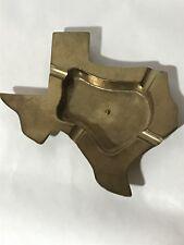 Vintage TEXAS Shaped Ashtray BIG Metal Austin Dallas San Antonio Alamo Cowboy
