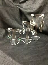 CLEAR ACRYLIC EARRING JEWELLERY DISPLAY STANDS  SET OF 3 NEW