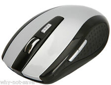 Grey Wireless Optical mouse Mini + usb receiver for Dell Toshiba Apple Laptop PC