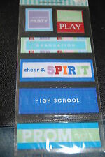 HIGH SCHOOL SENIOR YEARBOOK GRADUATION PROM FABRIC STICKERS th-273 FREE SHIPPING
