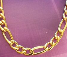 """GCN 18k Gold Filled 20""""/50 CM x 6 mm Figaro Curb catena collana Plum UK in Scatola"""