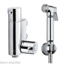 DOUCHE KIT BIDET TOILET THERMOSTATIC VALVE BRASS CHROME SHOWER SHATTAF MUSLIM
