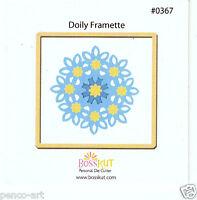 BossKut 'Doily Framette' floral die 8.8cm use in all die cutting machines