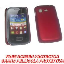Pellicola + custodia BACK cover RIGIDA ROSSA per Samsung Galaxy Pocket S5300