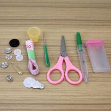 Practical Sewing Kit Thread Spool Needle Tape Measure Scissor Storage Box New