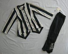 NWT ELIANE ET LENA STRIPED SHIRT DRESS & BLACK LEGGINGS 2PC SET 4 - 5 yrs 5a