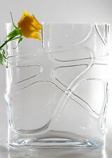 Time Tree Handmade Rounded Rectangular Tank Turkish Glass Vase Height 30cm