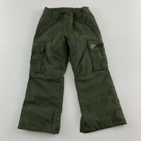 Burton Dry Ride Snowboard Ski Pants Youth S (7/8) Army Green