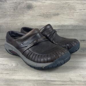 Merrell Encore Pleat Slide J48200 Brown Leather Slip On Mule Women's Size 8.5