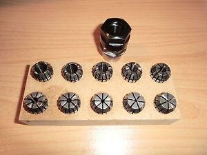 Spannzangenvorrichtung ER11 + 13 Zangen EMCO Unimat SL DB200 M12x1 collet holder