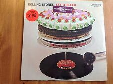 ROLLING STONES LET IT BLEED SEALED WITH 2 STICKERS ON SHRINKWRAP POSTER INCLUDED