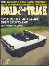 ROAD & TRACK 1984 JULY - RUF TURBO, CRX, GULDSTRAND