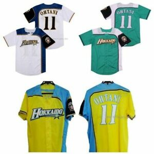 Japan Shohei Ohtani #11 Baseball Jersey Hokkaido Nippon Ham Fighters White Green