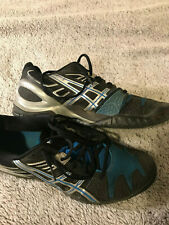 Asics Gel Resolution 5 mens black and blue Used mens size 9
