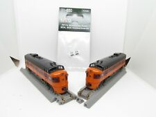 N Scale Pair of KATO Powered Locomotive F7A Milwaukee Road with Number boards