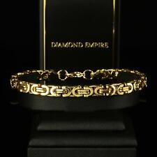 Bracelet Homme 19cm Bracelet Massif 24 Carat Plaqué or B1710-3