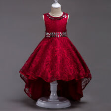 Kids Baby Girls Flower Formal Occasion Party Wedding Prom Bridesmaid Event Dress