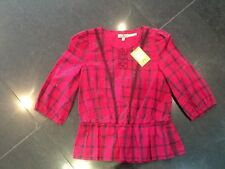 NWT Juicy Couture New & Genuine Girls Age 8 Pink Cotton 3/4 Sleeved Blouse
