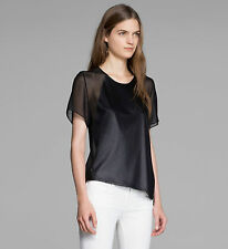 HELMUT LANG BLACK VENA TEE T-SHIRT MEDIUM