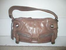DKNY LADIE'S BROWN LEATHER SMALL BAG